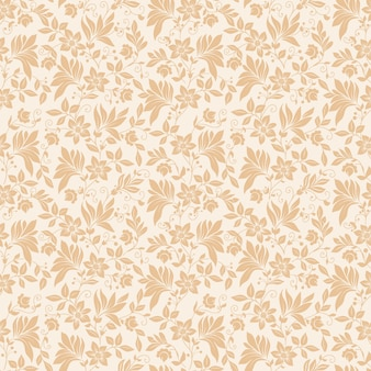 Vector flor padrão padrão sem costura. textura elegante para fundos. ornamento floral de moda clássica de luxo, textura sem costura para papéis de parede, têxteis, embrulho.