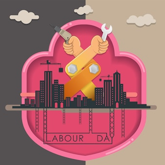 Vector for labor day