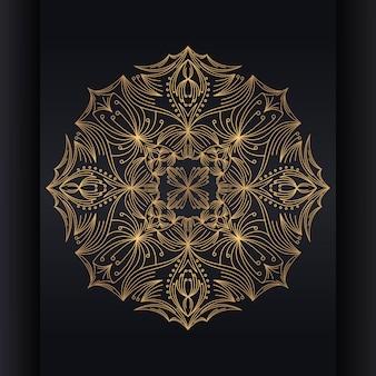 Vector fundo islâmico com mandala