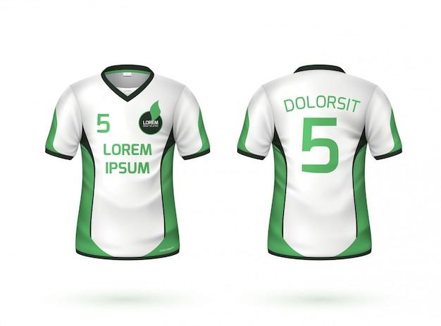 Vector futebol futebol t-shirt uniforme maquete