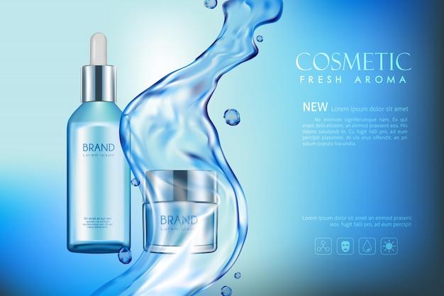 Vector garrafa aroma fresco cosmético