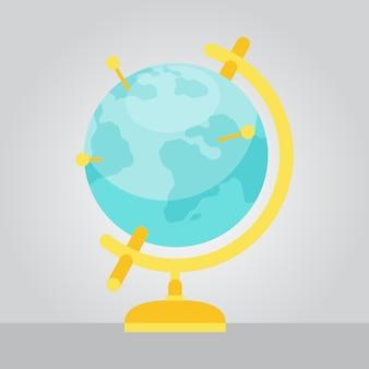 Vector geographic globe ilustração estilo plano