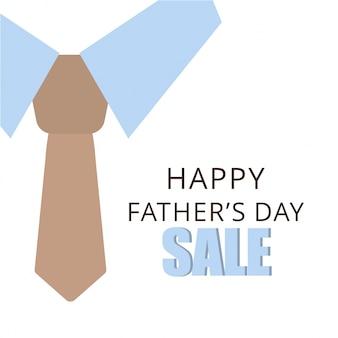 Vector illustration bannerflyer venda ou cartaz do dia dos pais felizes