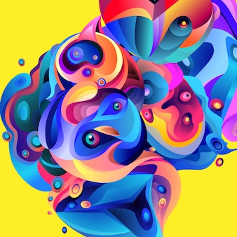 Vector illustration fundo colorido abstrato fluido