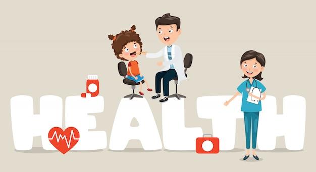 Vector illustration médica e de saúde