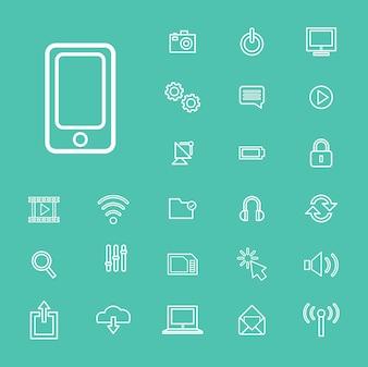 Vector Illustration UI tecnologia ícone conceito
