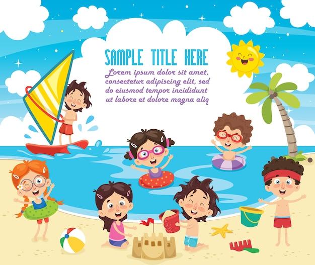 Vector ilustration de crianças de verão
