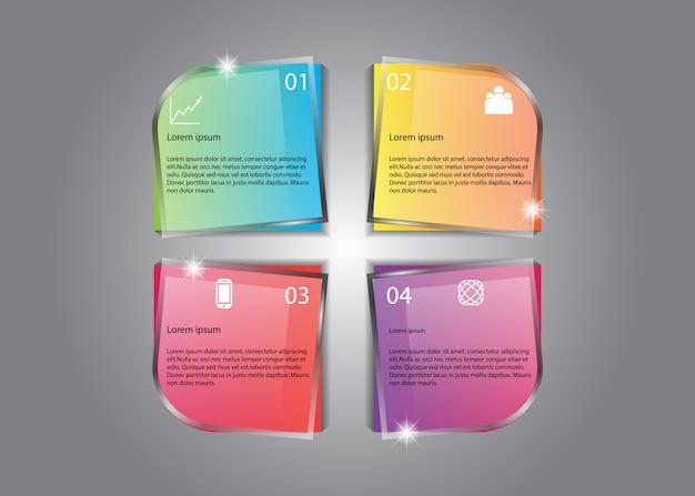 Vector infográfico design agradável brilho colorido informação