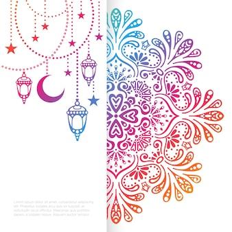 Vector islamic background