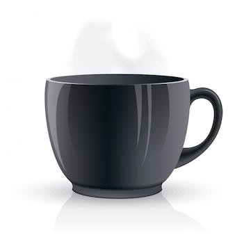 Vector isolado xícara de chá.
