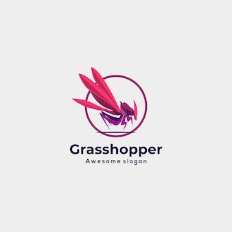 Vector logo illustration grasshopper colorful style.