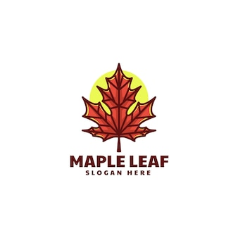 Vector logo ilustração maple simple mascot style