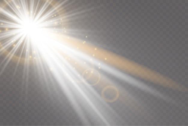 Vector luz solar transparente lente especial flare efeito de luz