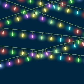 Vector luzes de natal