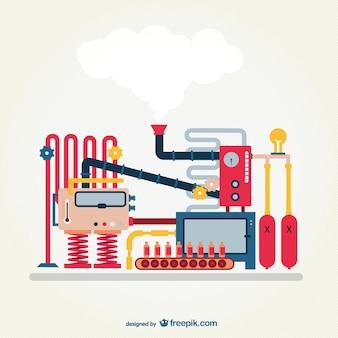 Vector máquina industrial