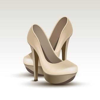 Vector mulher moda sapatos de salto alto