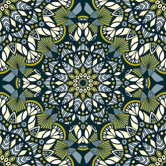 Vector natureza sem costura padrão com ornamento abstrato.