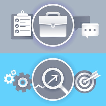 Vector negócios e design gráfico sinais e símbolos em estilo simples