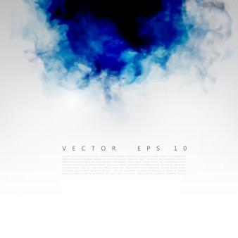 Vector nuvem azul.