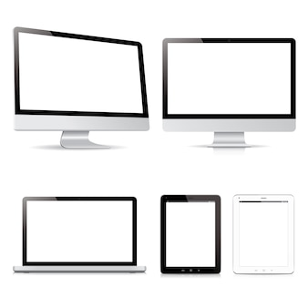 Vector pack computador tablet dispositivos eletrônicos