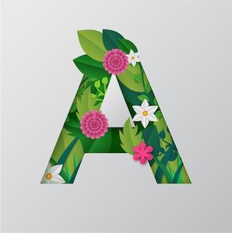 Vector paper cut style um alfabeto
