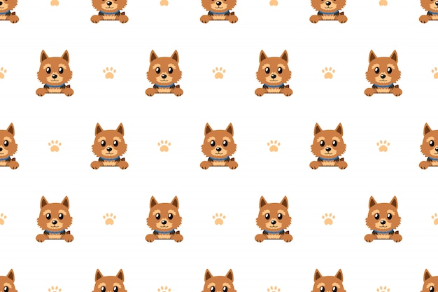 Vector personagem de desenho animado norwich terrier cão sem costura padrão