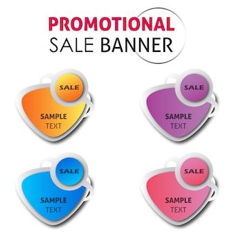 Vector promocional sale banner designs