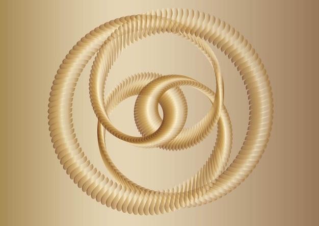 Vector quadro abstrato de ouro