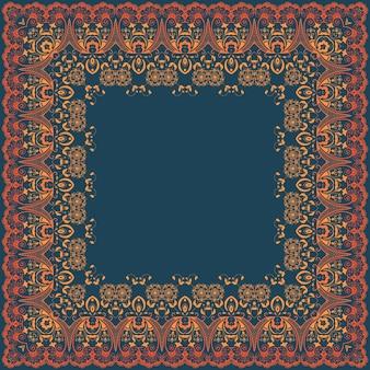 Vector quadro floral fino. elemento decorativo para convites e cartões. elemento da borda