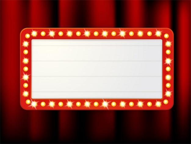 Vector quadros de etiquetas de caixas de luz retrô vazias para inserir o seu texto.