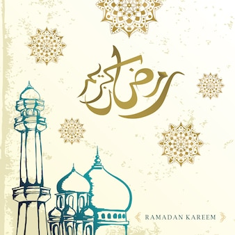 Vector ramadan kareem saudação design vintage elegante design