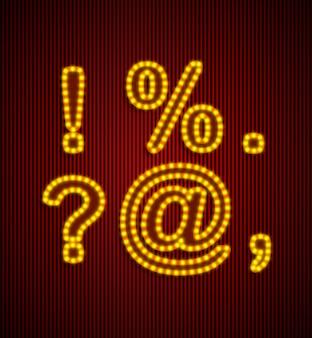 Vector retro conjunto de alfabeto.
