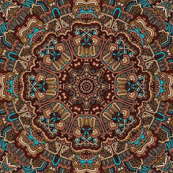 Vector seamless arte africana batik ikat étnico boêmio impressão vintage design