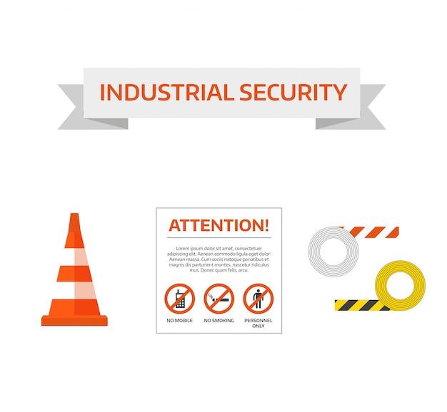 Vector segurança primeiro sinal de estrada sob a coleção de sinal de construção