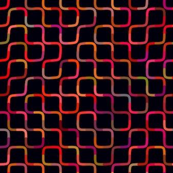 Vector sem costura multicolor labirinto linhas geométrica padrão