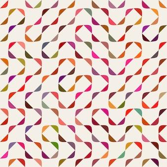 Vector sem costura multicolor maze arcs geometric pattern