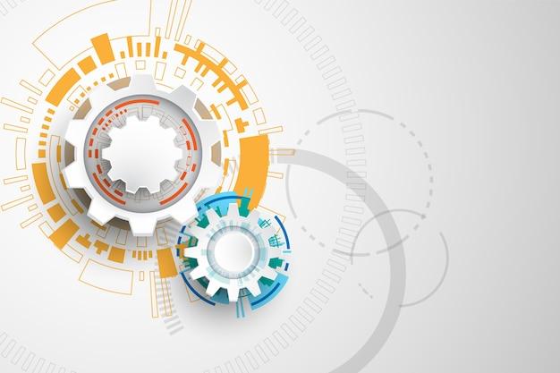 Vector tecnologia engrenagens conceito.