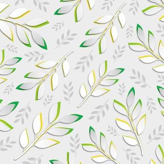Vector tropical folhas de fundo