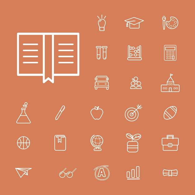 Vector ui illustration educação escola estudo conceito