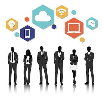 Vector UI ilustração negócios pessoas conceito