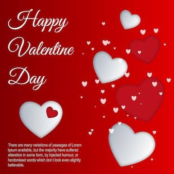 Vector valentine's hearts background