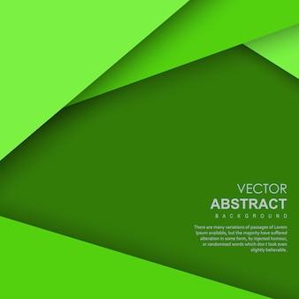 Vector verde abstrato