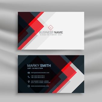 Vector vermelho e design preto do modelo de criativo do cartão de visita