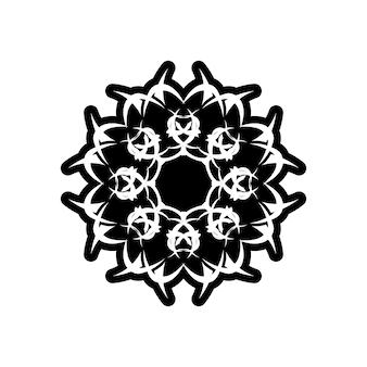 Vector vintage padrão em estilo vitoriano em forma de um círculo. elemento ornamentado para design. decoração tradicional em contraste. mandala.