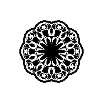 Vector vintage padrão em estilo vitoriano em forma de um círculo. elemento ornamentado para design. teste padrão ornamental para convites de casamento, cartões comemorativos. decoração tradicional em contraste. mandala.