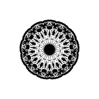 Vector vintage padrão em estilo vitoriano em forma de um círculo. elemento ornamentado para design. teste padrão ornamental para convites de casamento, cartões comemorativos.