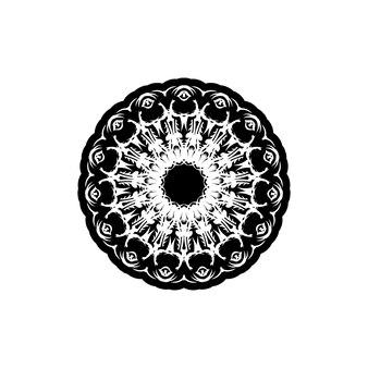 Vector vintage padrão em estilo vitoriano em forma de um círculo. elemento ornamentado para design.