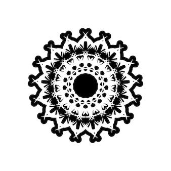 Vector vintage padrão em estilo vitoriano em forma de um círculo. teste padrão ornamental para convites de casamento, cartões comemorativos. decoração tradicional em contraste. mandala.