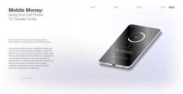 Vector web design e modelo móvel. ui diferente, ux.