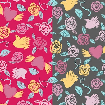 Vectorial valentine seamless pattern